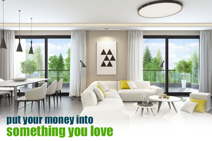 Save your money to furnish your house with 100% financing programs.